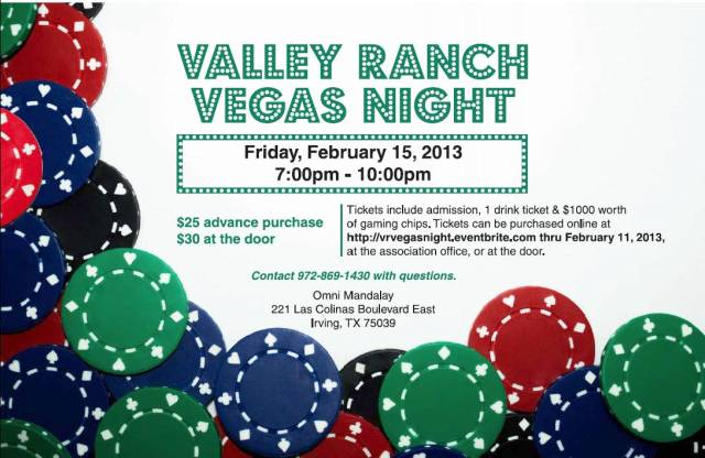Valley Ranch Vegas Night Flyer