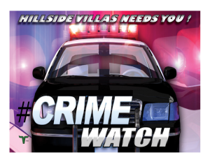 Hillside Villas Crime Watch WITH LOGO