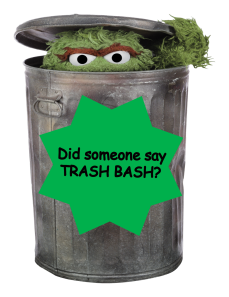 Trash Bash - black text